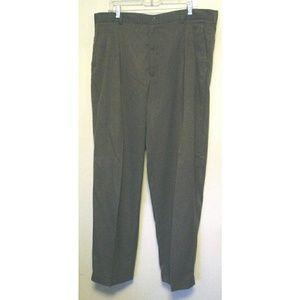 Adolfo Dark Brown Pants Slacks Trousers 40x32 EC
